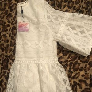 Chicwish white lace blouse